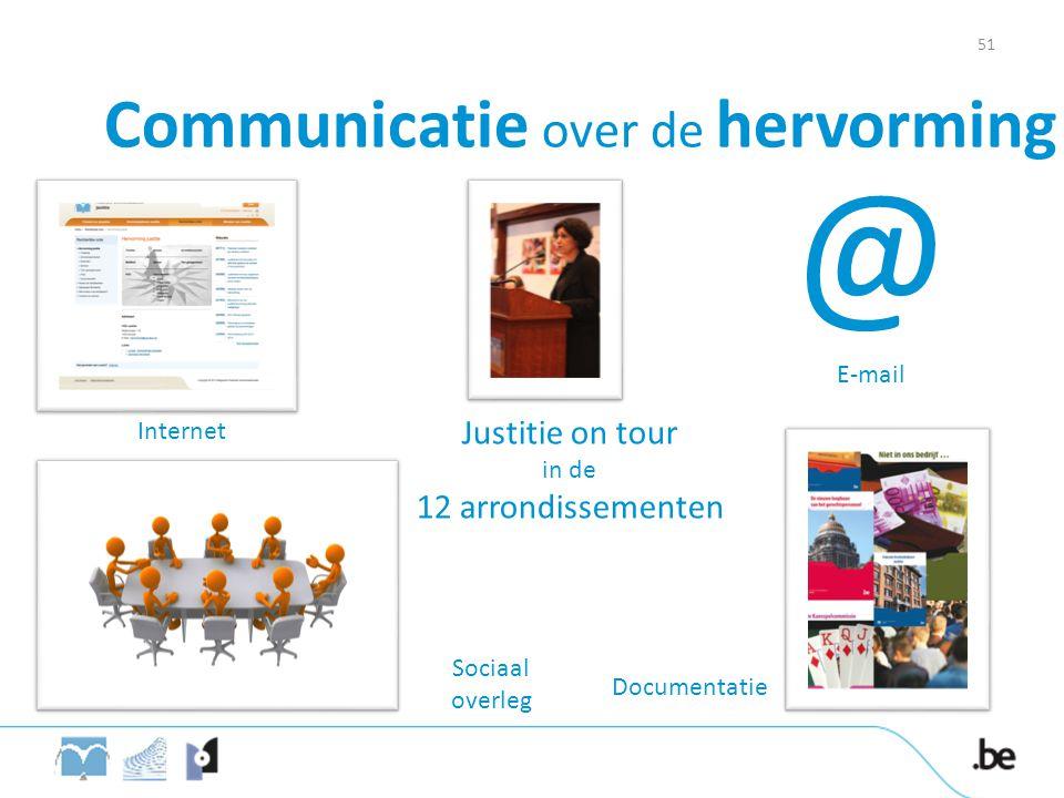 Justitie on tour in de 12 arrondissementen