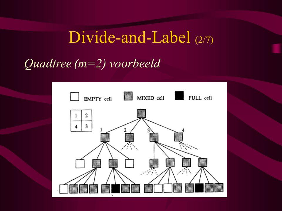 Divide-and-Label (2/7) Quadtree (m=2) voorbeeld