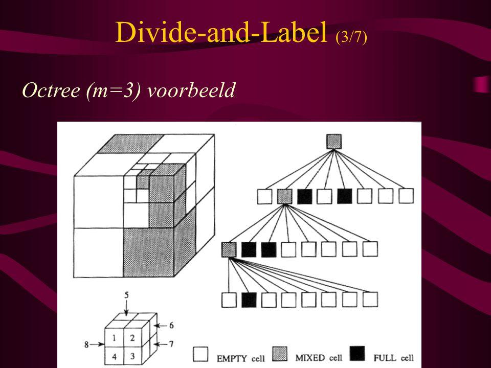 Divide-and-Label (3/7) Octree (m=3) voorbeeld