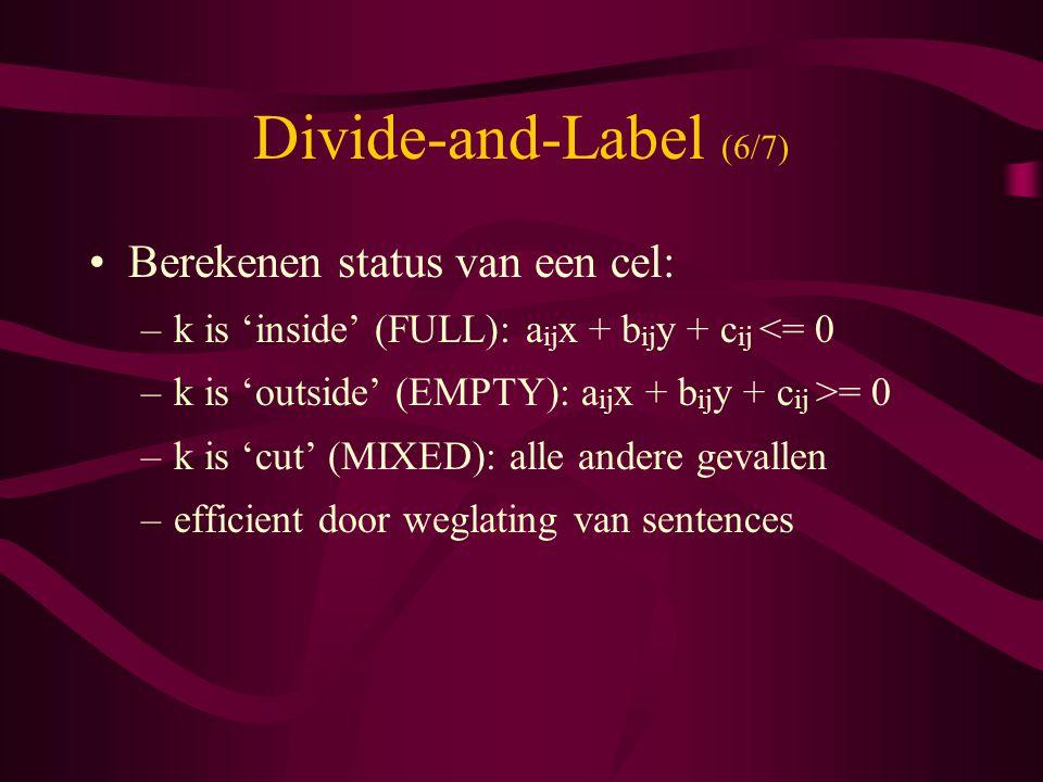 Divide-and-Label (6/7) Berekenen status van een cel: