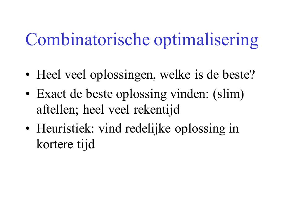 Combinatorische optimalisering