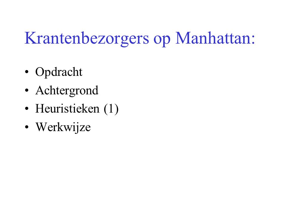 Krantenbezorgers op Manhattan: