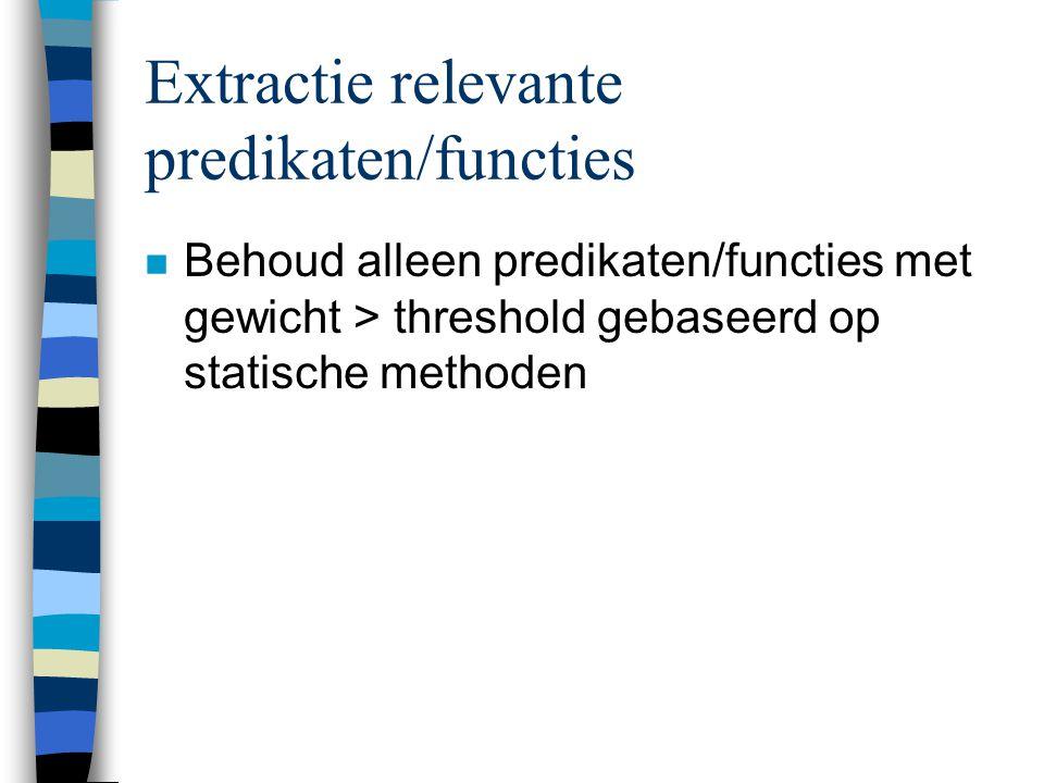 Extractie relevante predikaten/functies