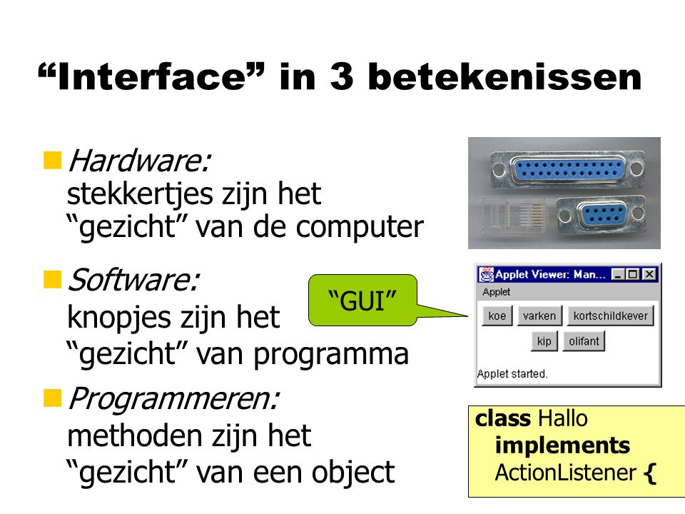 Interface in 3 betekenissen
