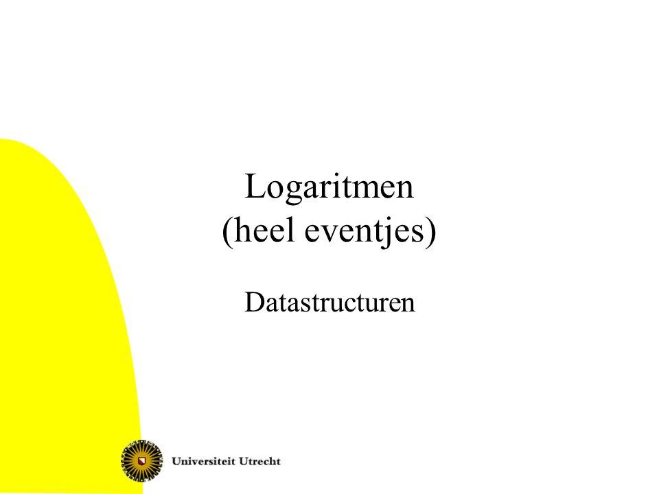 Logaritmen (heel eventjes)