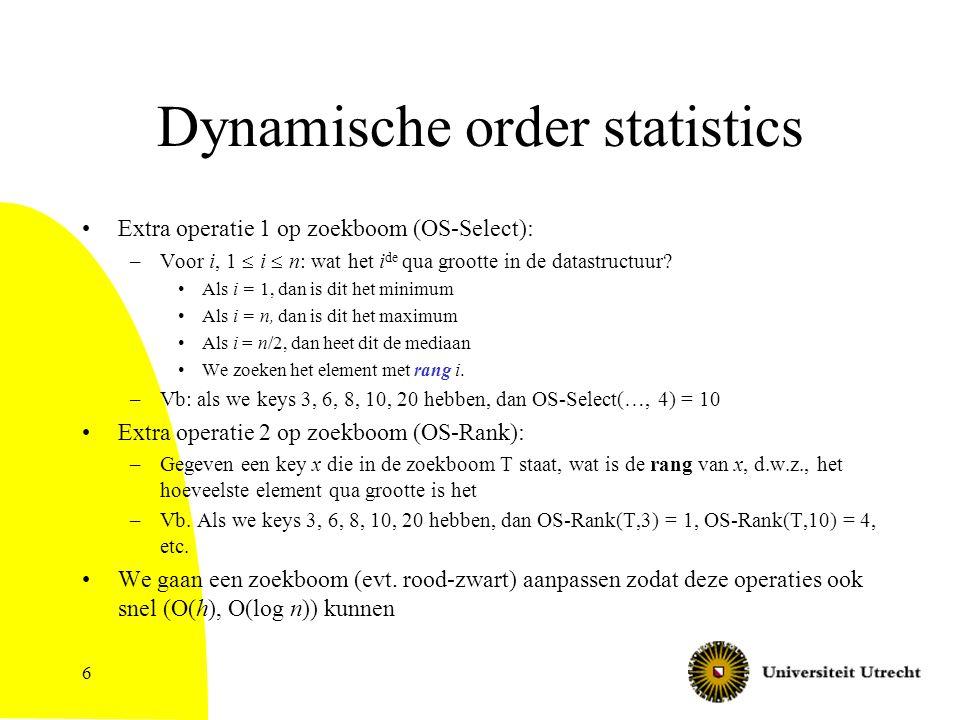 Dynamische order statistics
