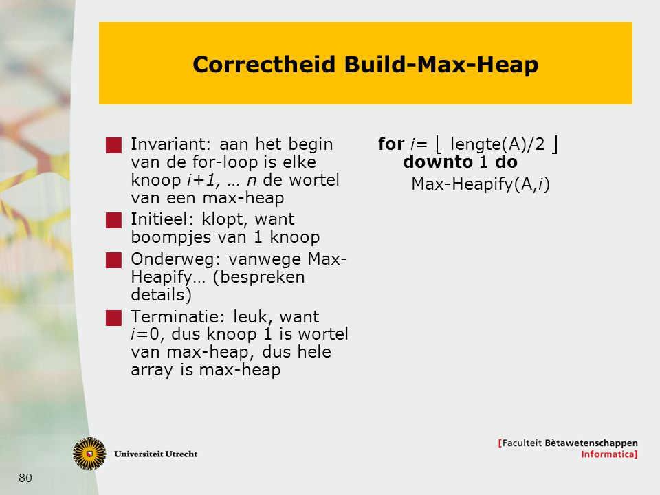 Correctheid Build-Max-Heap