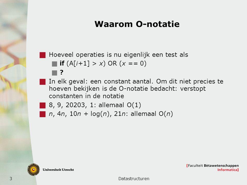Waarom O-notatie Hoeveel operaties is nu eigenlijk een test als