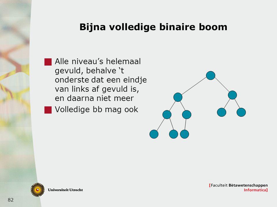 Bijna volledige binaire boom