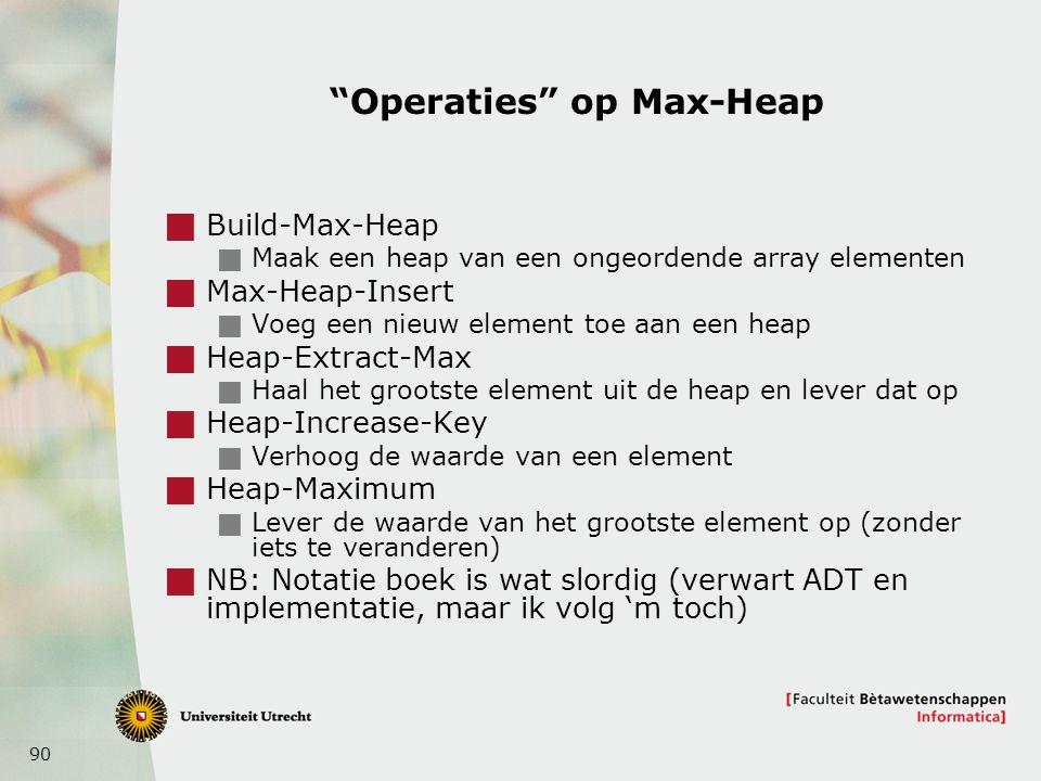 Operaties op Max-Heap