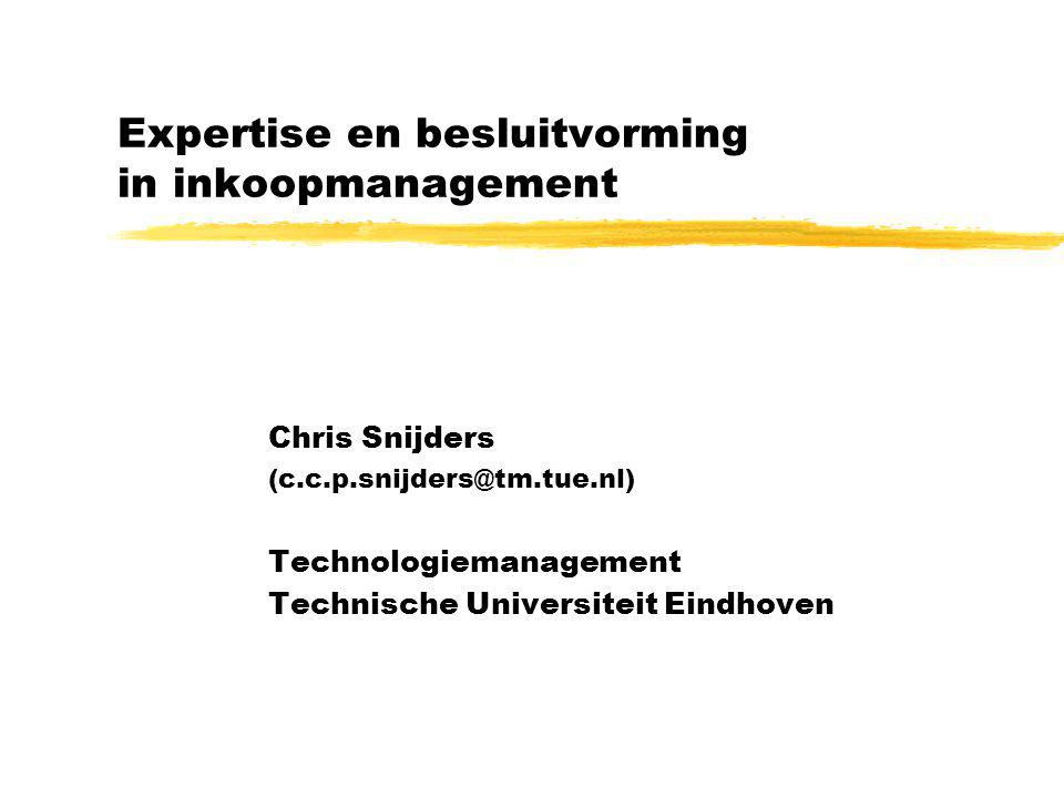 Expertise en besluitvorming in inkoopmanagement