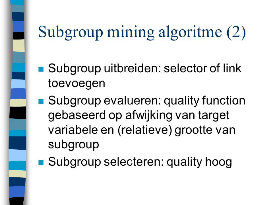 Subgroup mining algoritme (2)