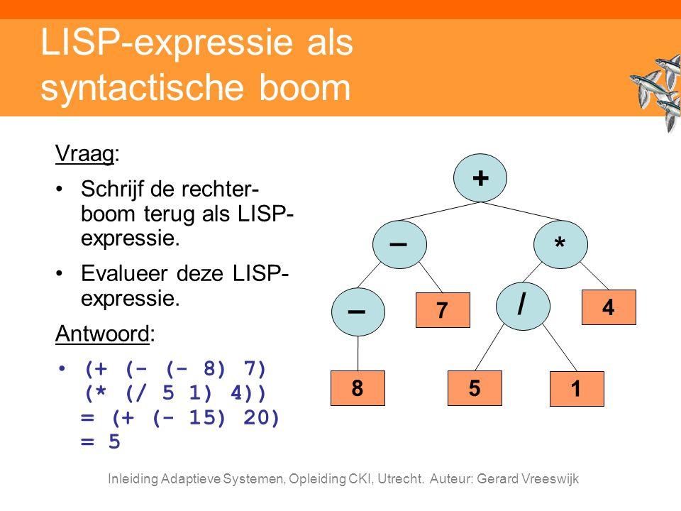 LISP-expressie als syntactische boom