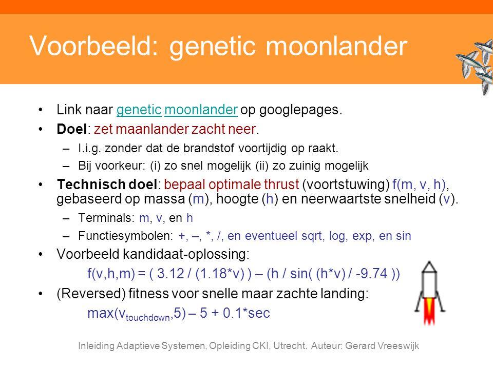 Voorbeeld: genetic moonlander