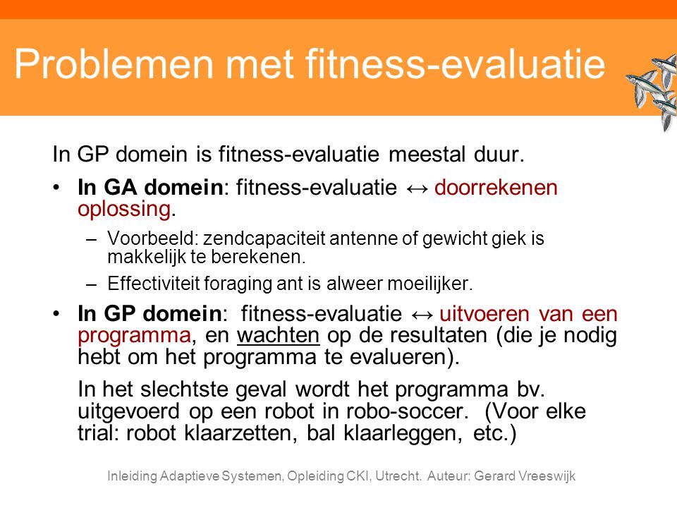 Problemen met fitness-evaluatie