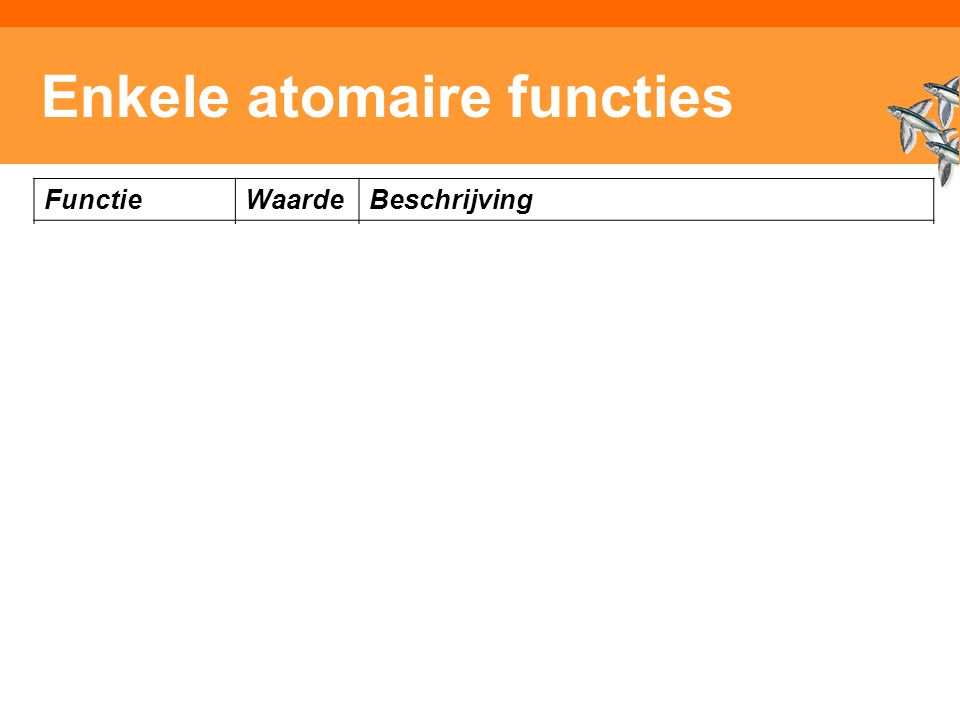 Enkele atomaire functies