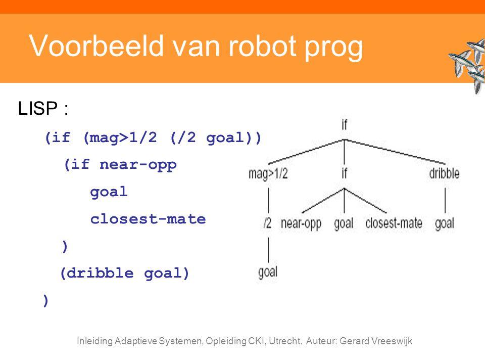 Voorbeeld van robot prog