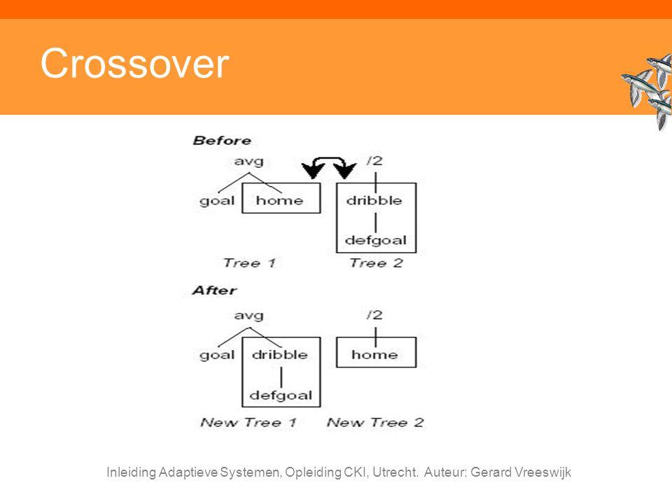 Crossover Inleiding Adaptieve Systemen, Opleiding CKI, Utrecht. Auteur: Gerard Vreeswijk