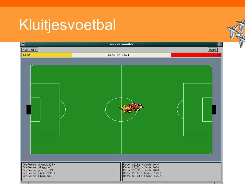 Kluitjesvoetbal Inleiding Adaptieve Systemen, Opleiding CKI, Utrecht. Auteur: Gerard Vreeswijk