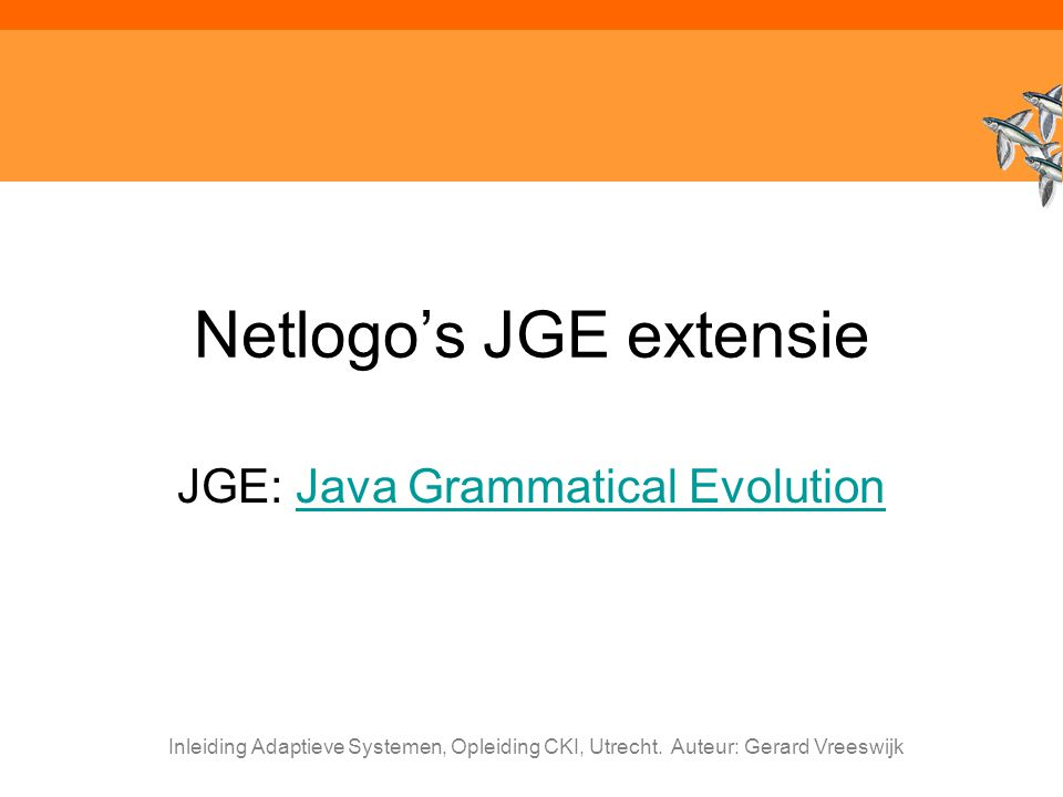 Netlogo's JGE extensie