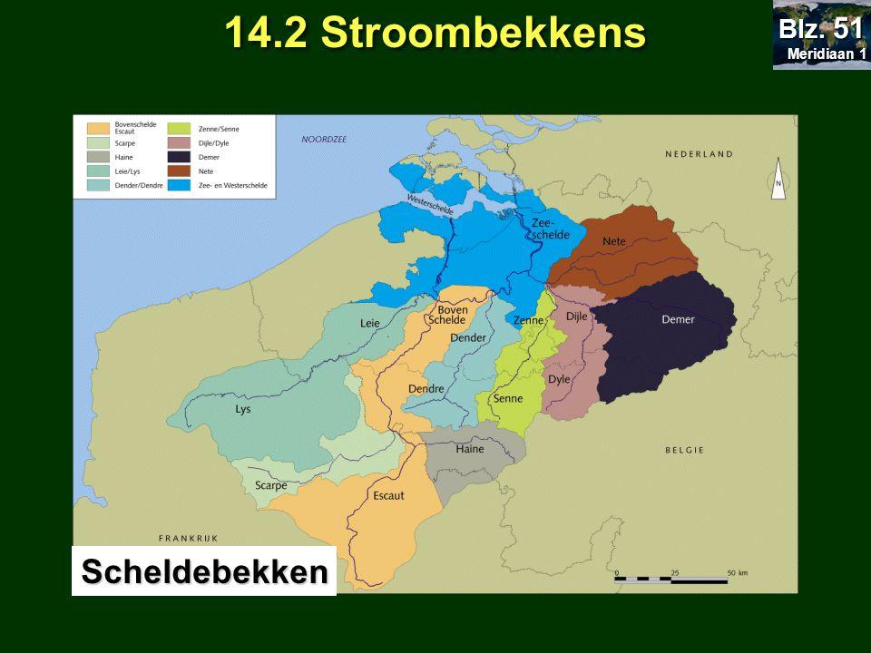 14.2 Stroombekkens Meridiaan 1 Blz. 51 Scheldebekken