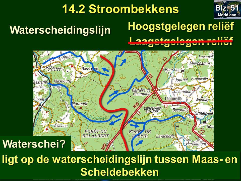ligt op de waterscheidingslijn tussen Maas- en Scheldebekken