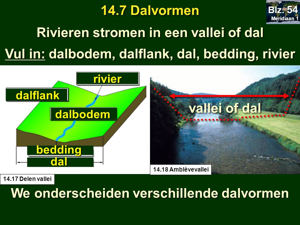 Rivieren stromen in een vallei of dal