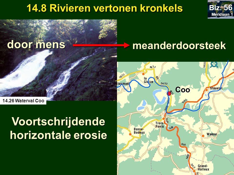 14.8 Rivieren vertonen kronkels Voortschrijdende horizontale erosie