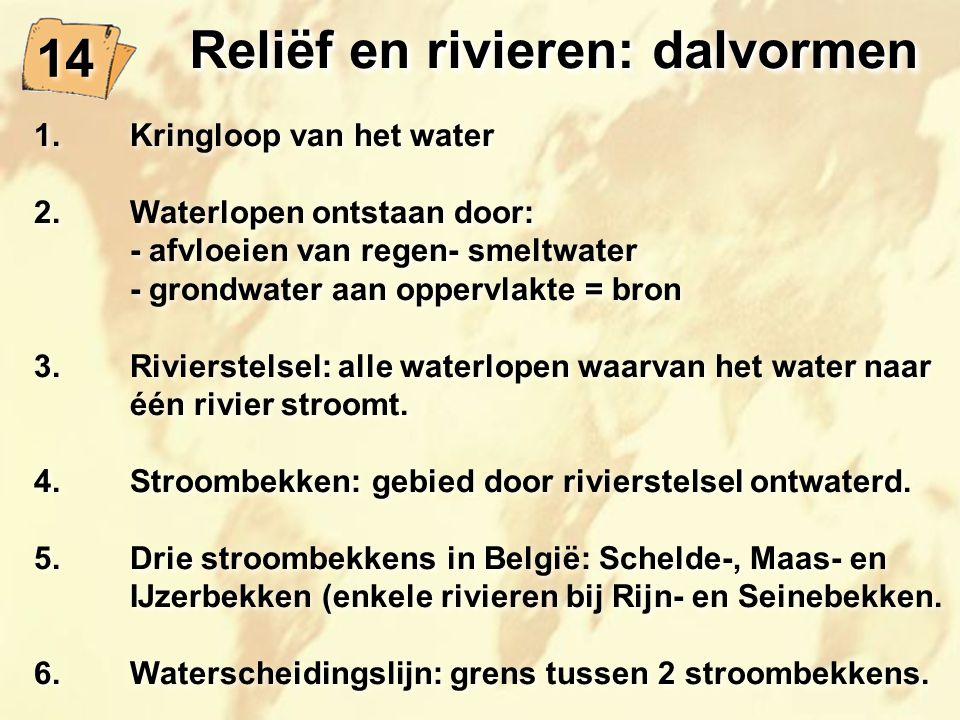 Reliëf en rivieren: dalvormen
