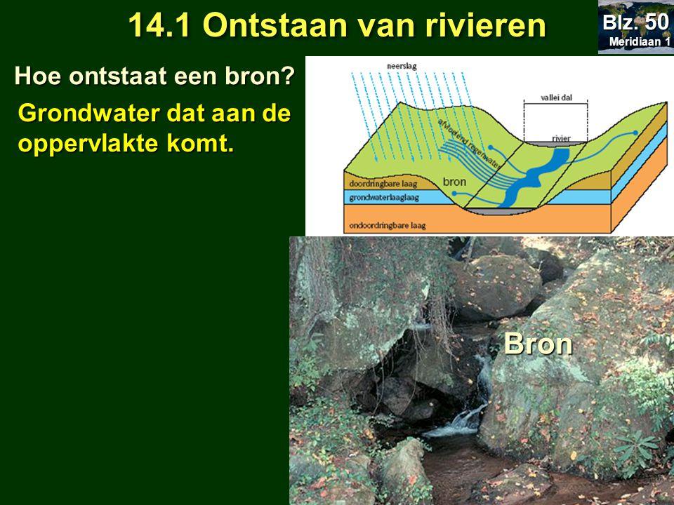 14.1 Ontstaan van rivieren Bron Hoe ontstaat een bron