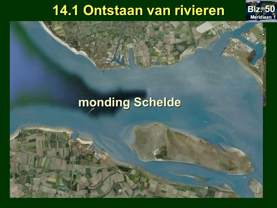 14.1 Ontstaan van rivieren = bovenloop = middenloop = benedenloop