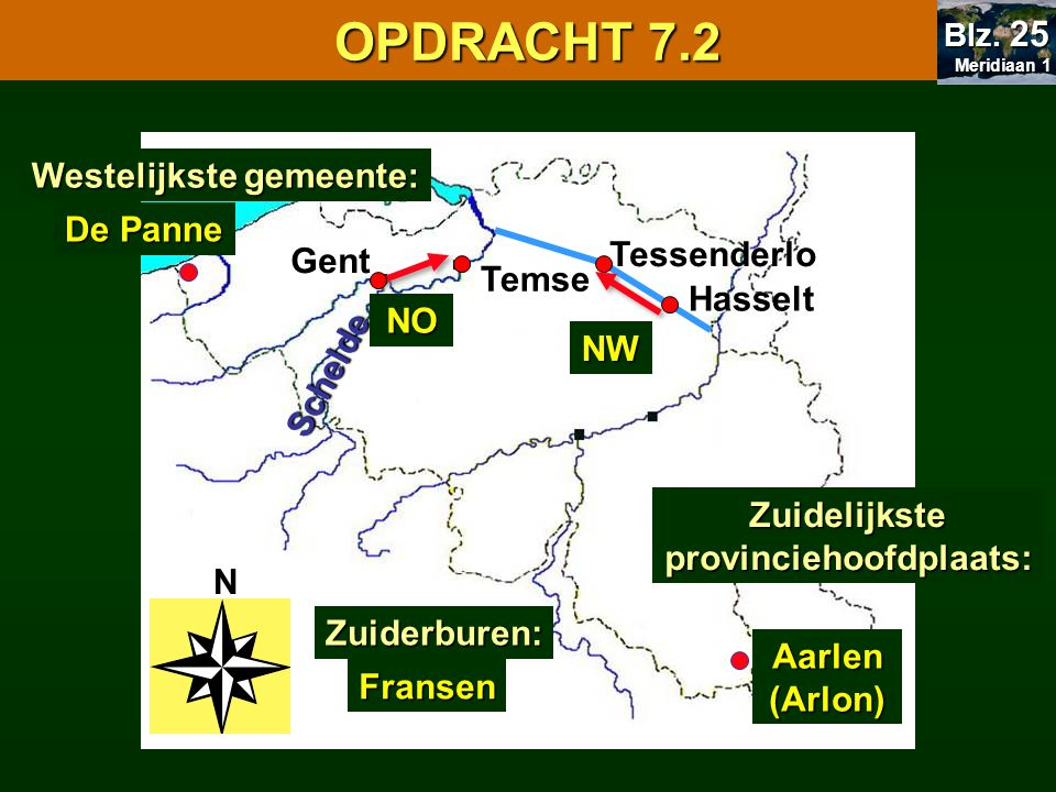 Zuidelijkste provinciehoofdplaats:
