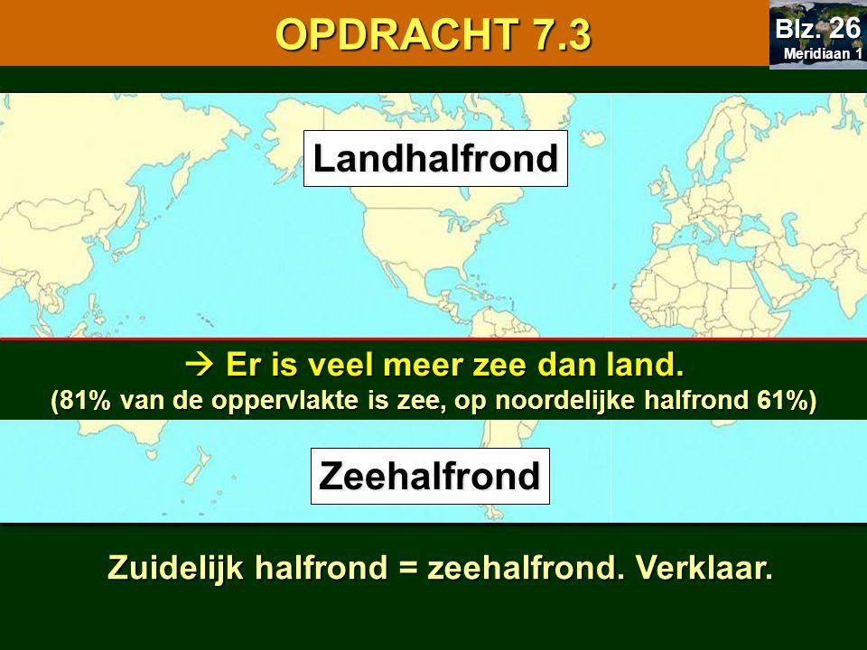 OPDRACHT 7.3 7.1 Oriënteren Landhalfrond Zeehalfrond