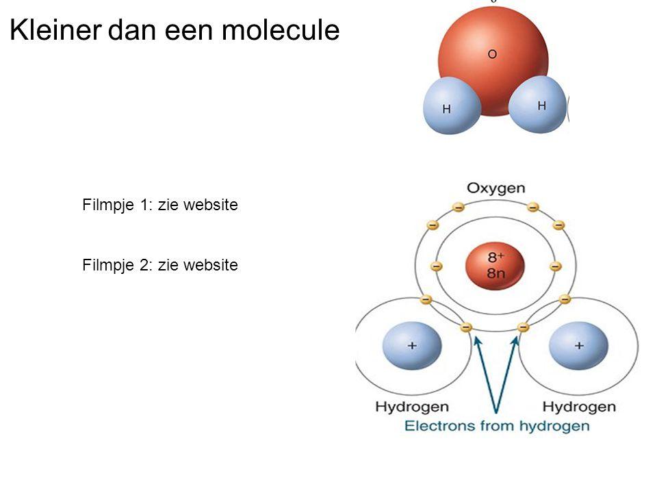 Kleiner dan een molecule