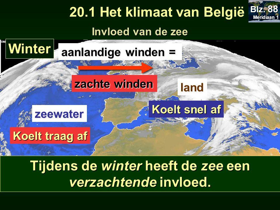 Tijdens de winter heeft de zee een verzachtende invloed.