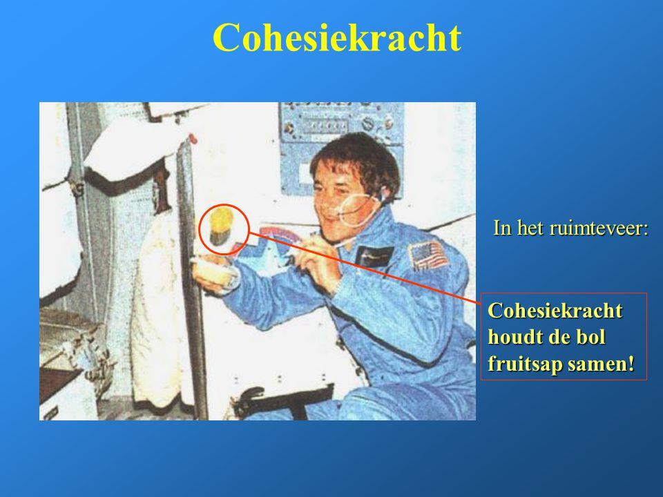 Cohesiekracht In het ruimteveer: