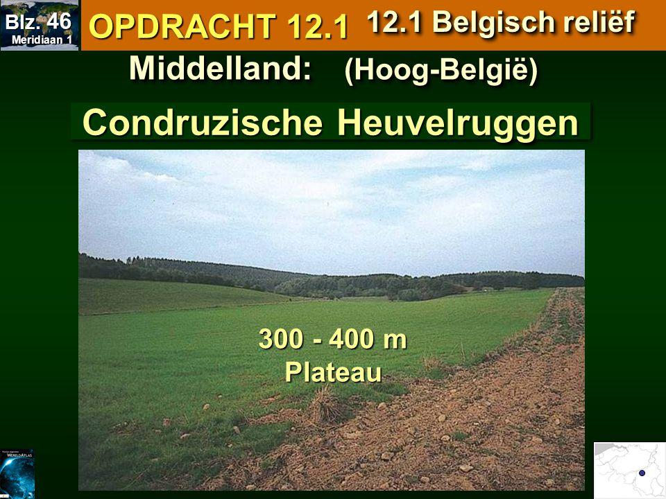 Middelland: (Hoog-België) Condruzische Heuvelruggen
