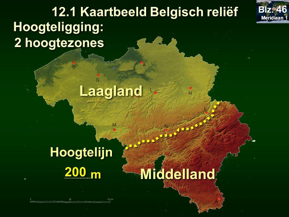 12.1 Kaartbeeld Belgisch reliëf