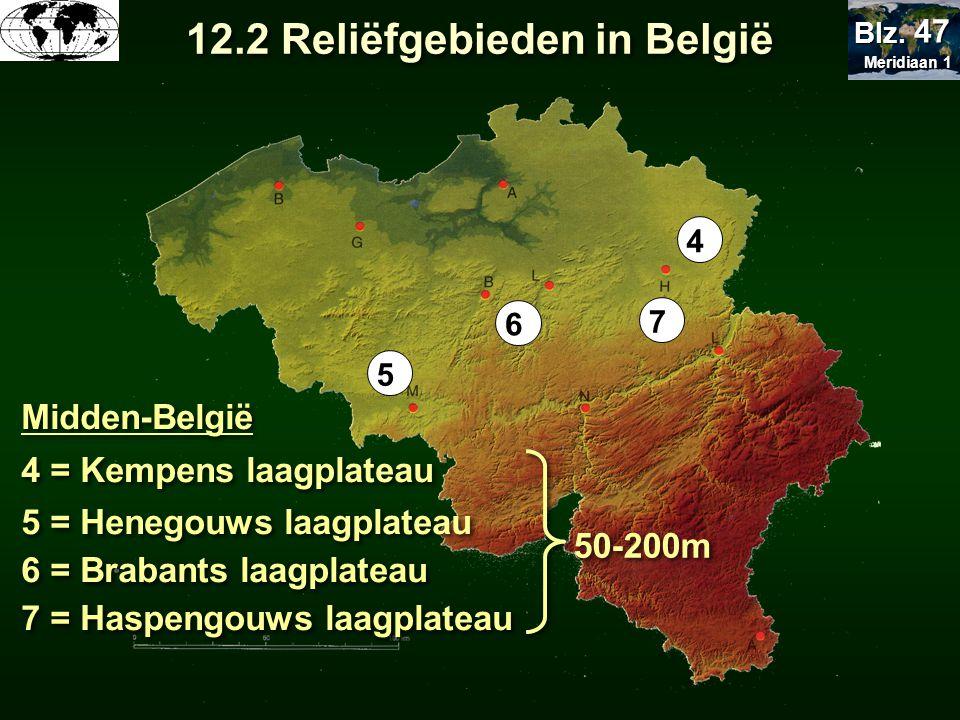 12.2 Reliëfgebieden in België