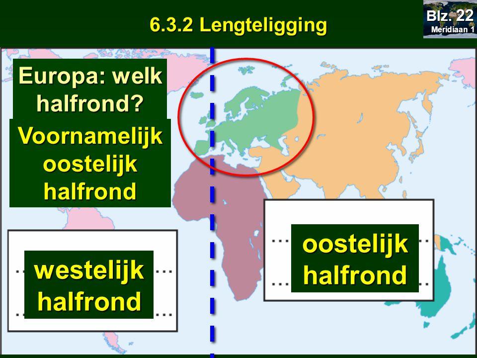 Voornamelijk oostelijk halfrond