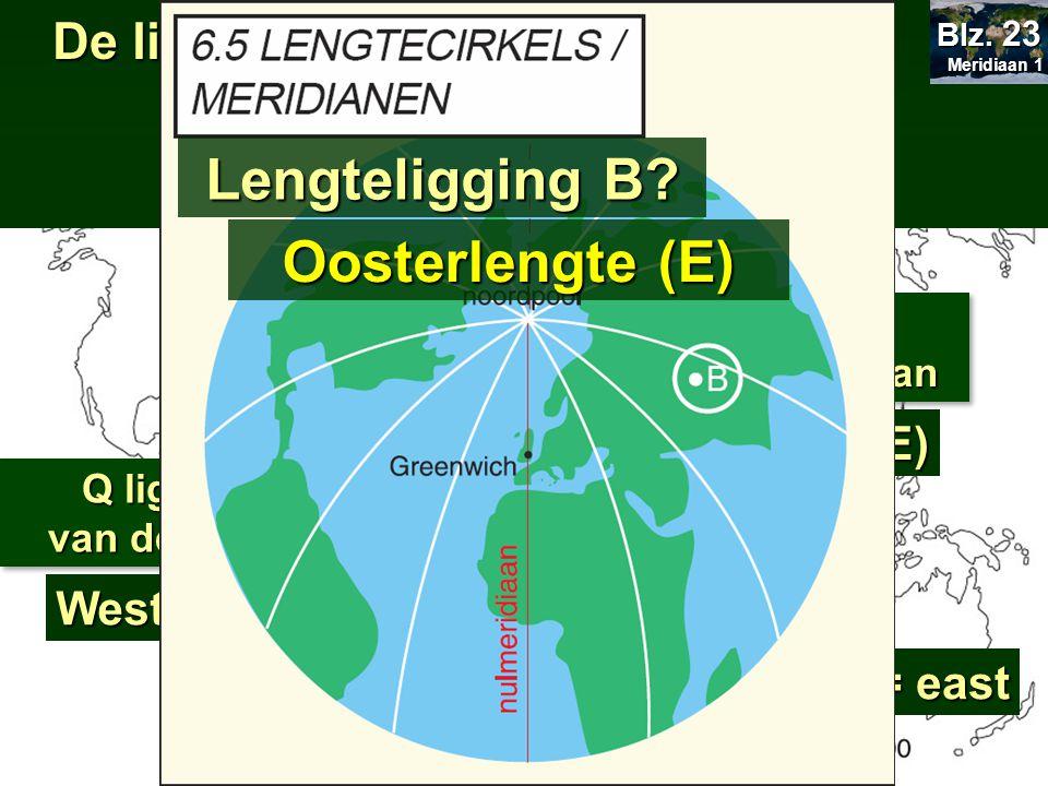 LENGTELIGGING Lengteligging B Oosterlengte (E)