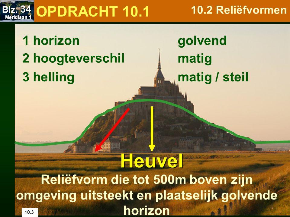 Heuvel OPDRACHT 10.1 1 horizon golvend 2 hoogteverschil matig