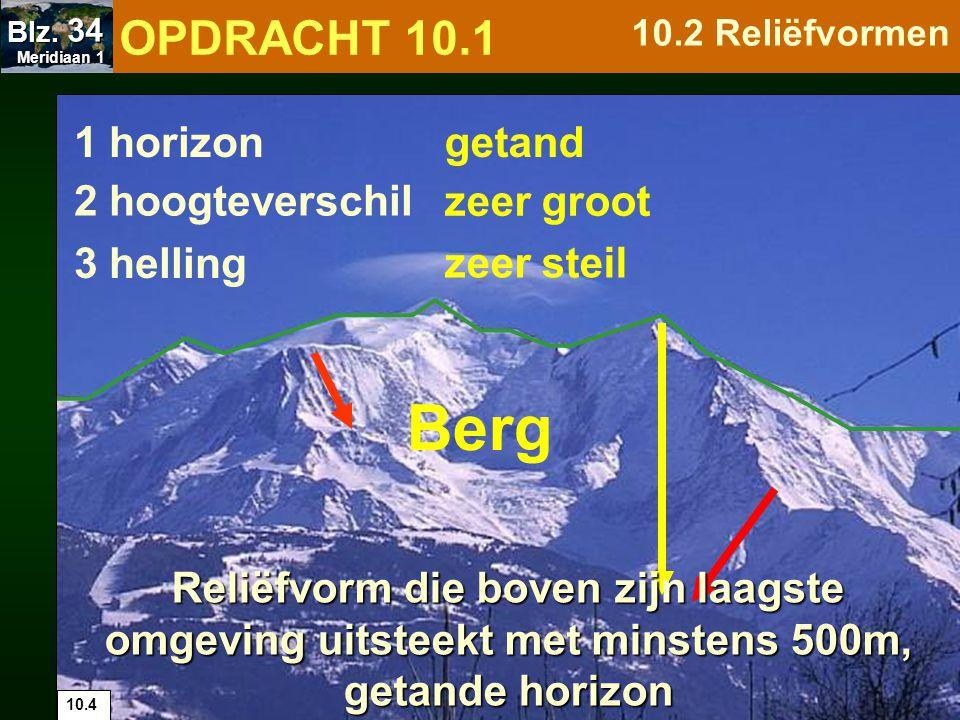 Berg OPDRACHT 10.1 1 horizon getand 2 hoogteverschil zeer groot