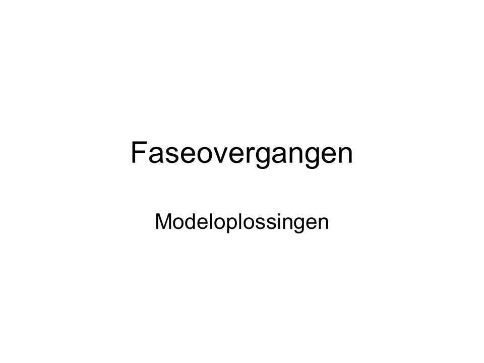 Faseovergangen Modeloplossingen
