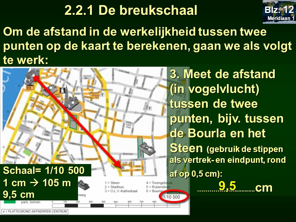 2.2.1 De breukschaal Meridiaan 1. Blz. 12.