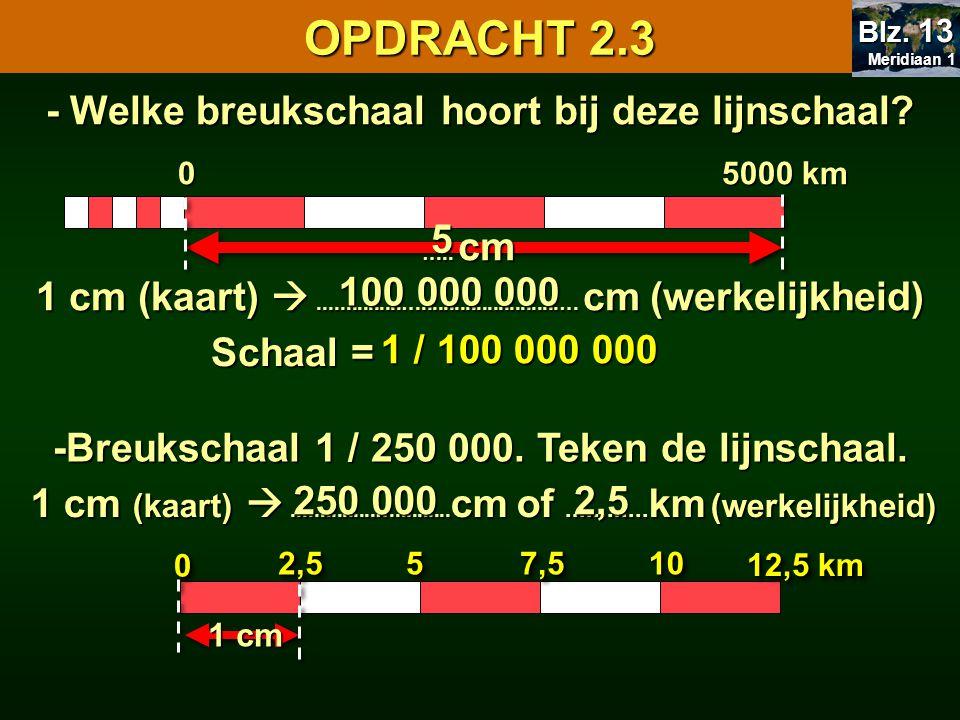 OPDRACHT 2.3 - Welke breukschaal hoort bij deze lijnschaal 5