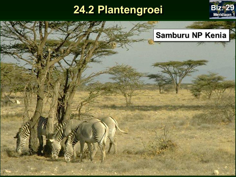 Meridiaan 1 Blz. 29 24.2 Plantengroei Samburu NP Kenia