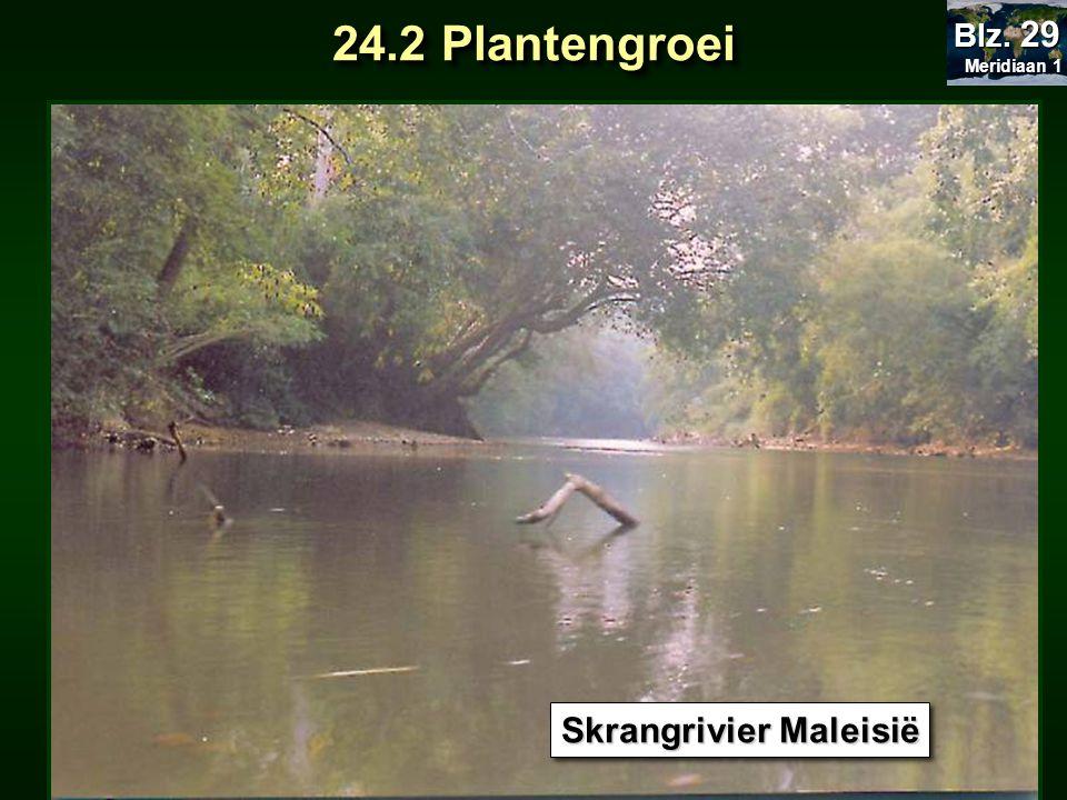 Meridiaan 1 Blz. 29 24.2 Plantengroei Skrangrivier Maleisië