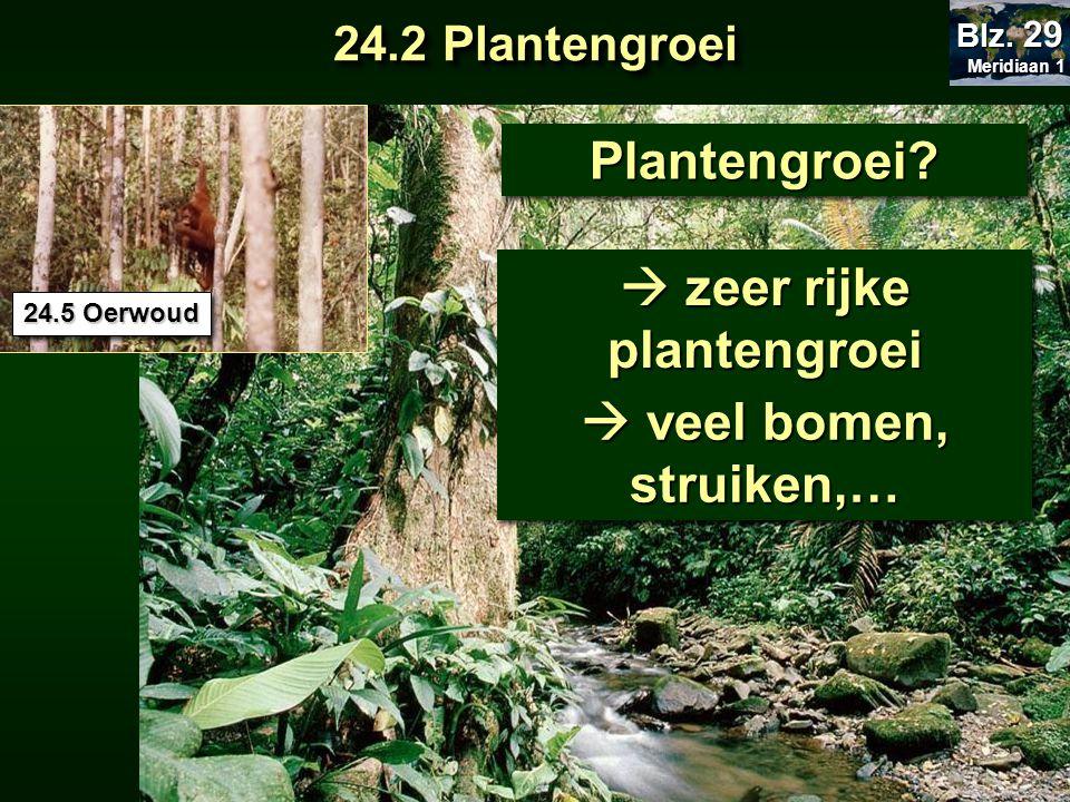  zeer rijke plantengroei
