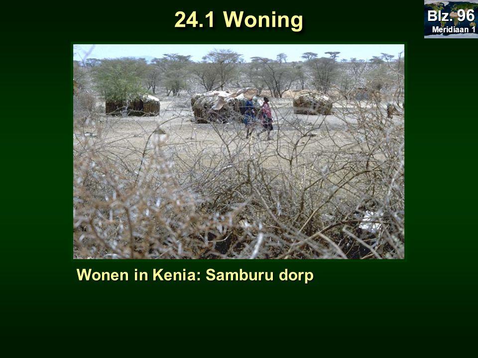 Meridiaan 1 Blz. 96 24.1 Woning Wonen in Kenia: Samburu dorp